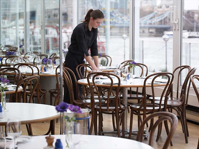 Waiter in south east london se1 blueprint cafe caterer previous malvernweather Choice Image