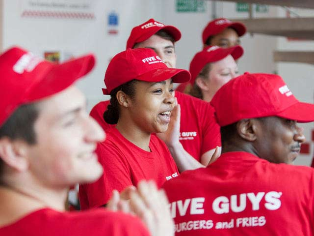 bournemouth guys Open if you love burgers, five guys is just where you need to visit their formula is simple, burgers and fries cooked to perfection, and this is why everyone loves five guys.